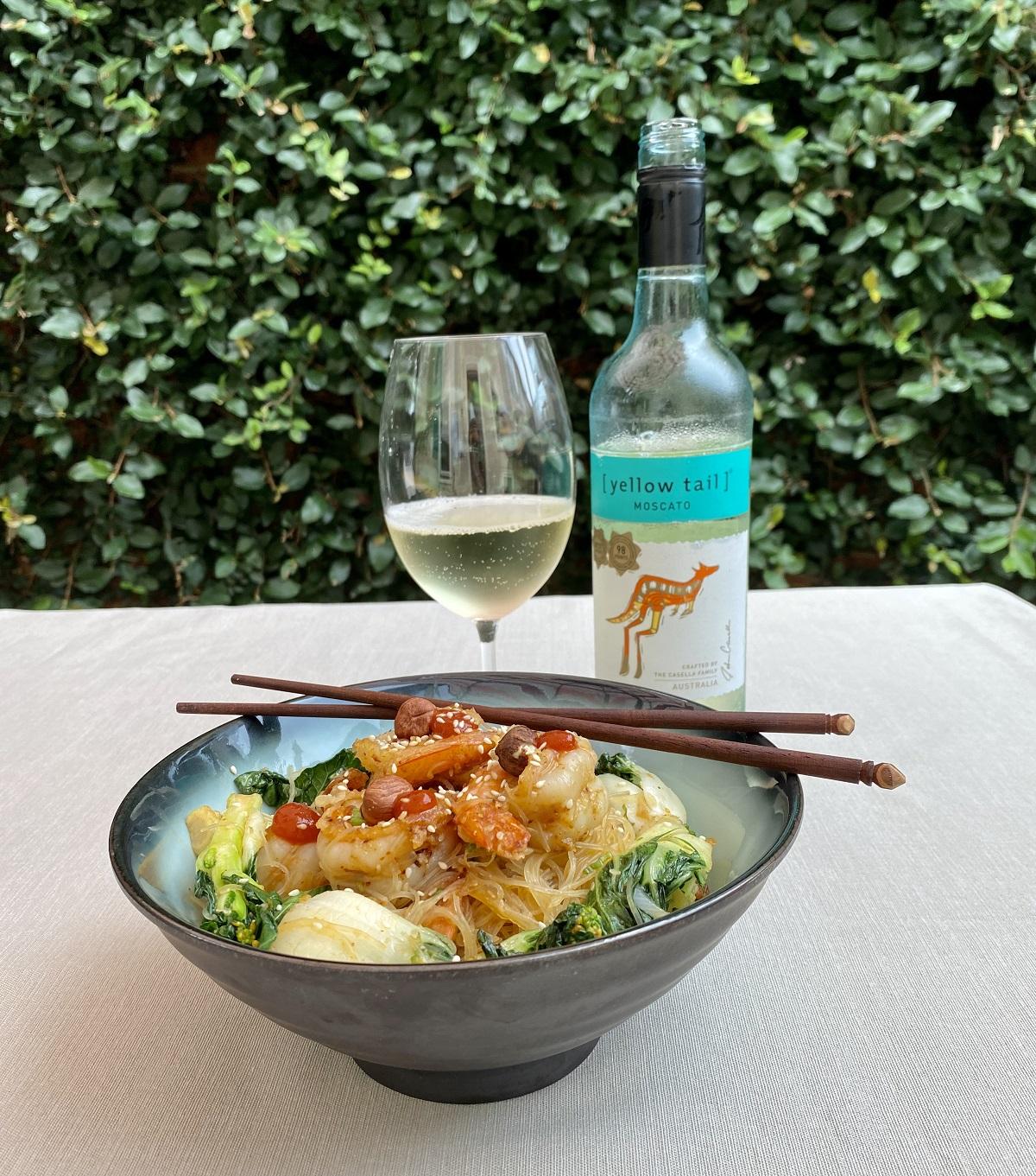 Shrimp with Rice Noodles